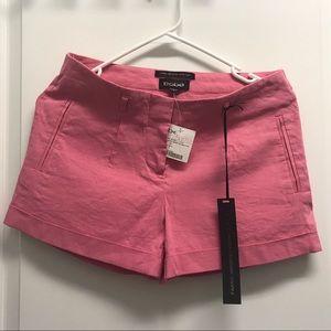 Bebe linen pink Shorts. Size 0 NWT